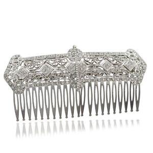 Desire Accessories Vintage Austrian Crystal Palace Bridal Haircomb
