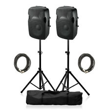 "Ibiza Sound XTK10A Active Speaker 8"" 600W Sound System DJ Disco Package"