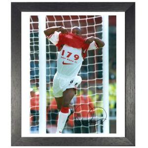 Ian Wright Framed Signed Photo – Record Breaker
