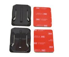 2x base curvada de 3m Adhesivo Pad Casco Kit De Montaje Compatible Con Gopro 4 3 + 3 2 1