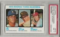 1973 TOPPS #615 MIKE SCHMIDT, PSA 7 NM, ROOKIE, HOF, PHILADELPHIA PHILLIES, L@@K