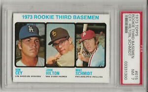 1973 TOPPS #615 MIKE SCHMIDT, PSA 7 NM, ROOKIE, HOF, PHILADELPHIA PHILLIES, L@@K