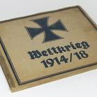 German WW1 Cigarette Album Comic Cartoon w/96 cards WWI Book Tobacco Pickelhaube