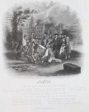 1857 Peace Treaty William Penn with Lenape Indians Philadelphia Pennsylvania