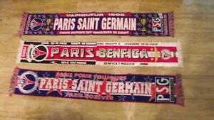 lot 3 RARE ANCIENNE ECHARPE PSG PARIS no maillot ultra kop supporter 1996 uefa