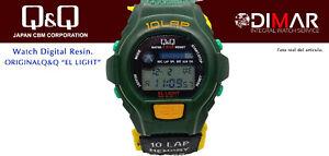 Vintage Uhren Q&Q Der Light. 9919, Wr. 5m. Lap Speicher 10. (L107 008)