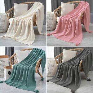 1pc Blanket Warm Air Conditioned Room Take A Nap Winter Office  Bed Sofa Cover