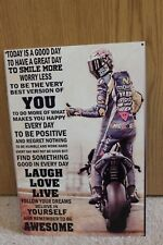 MOTO GP Fans Valentino Rossi Inspirational Metal Sign - NEW