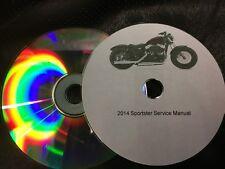 2014 Harley Davidson XL 883 Iron 48 Manual de taller de reparación de servicio Sportster CD