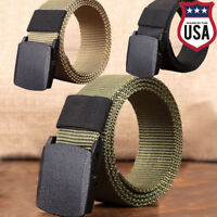 Men Nylon Waistband Outdoor Sports Military Tactical  Canvas Web Belt Dazzling