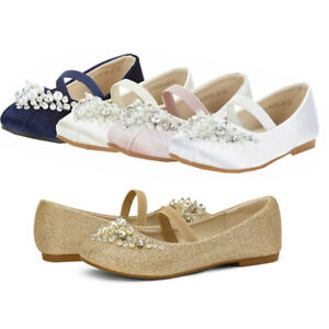 Kids Girls Flat Shoes Casual Mary Jane Party Shoes Princess Wedding Shoes US
