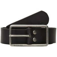 "NEW* QUIKSILVER SURF Stubs BELT LEATHER MENS XL 38"" $42 Retail Black"