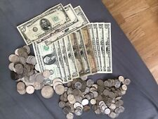 More details for large collection of usa/american coins & banknotes $72 lefy over holiday money!!