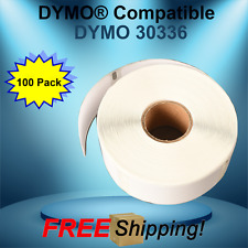 Dymo Compatible 30336 Twin Turbo Duo 100 Rolls White Rectangular Shaped Labels