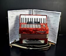 GERMAN TOP PIANO ACCORDION WELTMEISTER STELLA 80 bass,10 sw.+CASE@1oo1Accordions