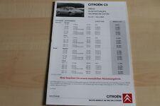 98622) Citroen C5 - Preise & tech. Daten & Ausstattungen - Prospekt 03/2005