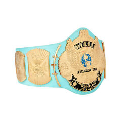 WWE BLUE WINGED EAGLE CHAMPIONSHIP ADULT METAL SIZE REPLICA BELT WITH CASE