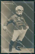 Militari Propaganda WW1 WWI Georges Clemenceau Caricature Giris cartolina XF8613