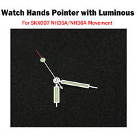 Watch Hands Set Pointer with Luminous Repair for SKX007 NH35A/NH36A Movement