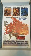 Jake McNiece Filthy 13 Autographed Signed 11x17 The Dirty Dozen Movie Poster DEC