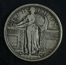 1917 P Type 1 Standing Liberty Silver Quarter ☆☆ Circulated ☆☆Great Book Filler