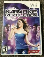 Karaoke Revolution - Nintendo Wii - Complete w/ Manual - Tested Working