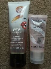 Sanctuary Spa Moisture Burst Gel Facial Wash 30ml & Caramel Comforting Face Mask