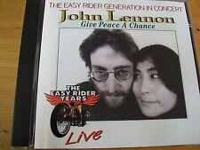 JOHN  LENNON GIVE A PEACE A CHANCE LIVE CD  YOKO ONO BOLLO SIAE A SECCO