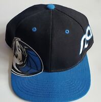 Rare Dallas Mavericks Hat Cap Adidas NBA Flatbill  Strapback Blue/Black OS