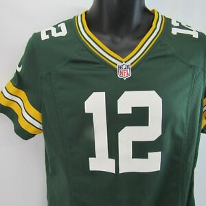 Aaron Rodgers Green Bay Packers #12 Jersey Youth Large YL 14-16 Nike On Field