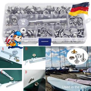 152 x Edelstahl Druckknopf Schraube Druckknöpfe für Persenning Plane Zelt Boot