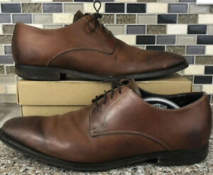 To Boot New York Adam Derrick Brown Leather Lace Up Oxford Dress Shoe Mens SZ 11