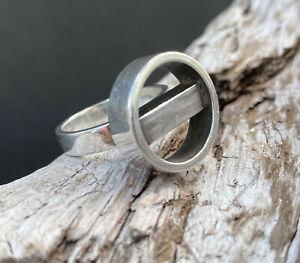 Georg Jensen Sterling Silver Ring by Søren Georg Jensen Mid Century Modern 1950