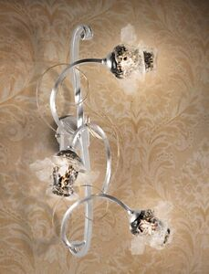 Wall Light Classic Metal And Glass - Silver
