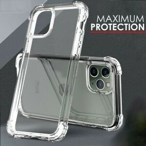 Case For iPhone 13 XR 11 12 Pro Max X 7 8 CLEAR Bumper Silicone TPU Cover