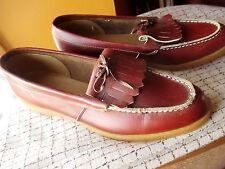 RARE NWOT Deadstock Vintage Charm Step Brown size 10 M Brown Tassle Loafers