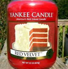 "Yankee Candle Retired ""RED VELVET"" Large 22 oz ~ WHITE LABEL~ RARE ~ NEW"