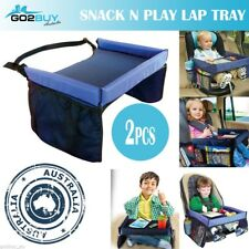 2pcs Baby Car Seat Lap Tray Snack N Play Portable Table Kid Travel Pushchair Kt2