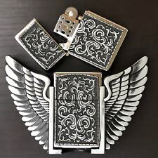 Pirate Wings LIGHTER Belt Buckle 3D Removable Lighter Plain High Quality