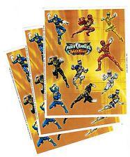 3 Sheets POWER Rangers Wild Force Scrapbook Stickers! 2002