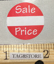 """1000 Self-Adhesive Sale Price Round Retail Labels 1"""" Sticker Tags Label Sales"""