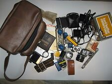Honeywell Pentax Spotmatic F 35 MM camera, f 1.8 Takumar 55 MM-Large Lot of acc.