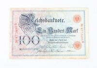 1903 Germany One Hundred Mark Note F Reichsbank Fine 100DM P#22 R#20
