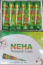 Neha Henna Cones 30 grams * Eid/Festival/Wedding * Box of 12 cones * 2017 Stock