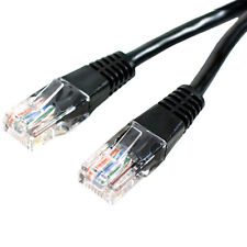 10x 1m CAT5 Internet/Ethernet Data Patch Cable - RJ45 Router/Modem Network Lead