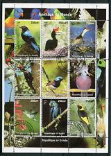 GUINEE, 1998, timbres 1473/1481, oiseaux, oblitérés
