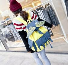Fashion ladies personality angel wings backpack canvas double shoulder bags 01 r