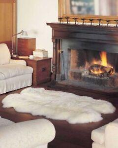 Genuine Australian Sheepskin Rug Four Pelt Ivory Fur