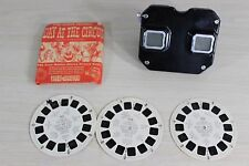 Sawyer's Black View-Master with Metal Lever and Day at the Circus 3 Reel Set