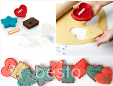 Letterpress Multi-Coloured Cookies Cutter Alphabets Biscuit Decorating Stamp Set